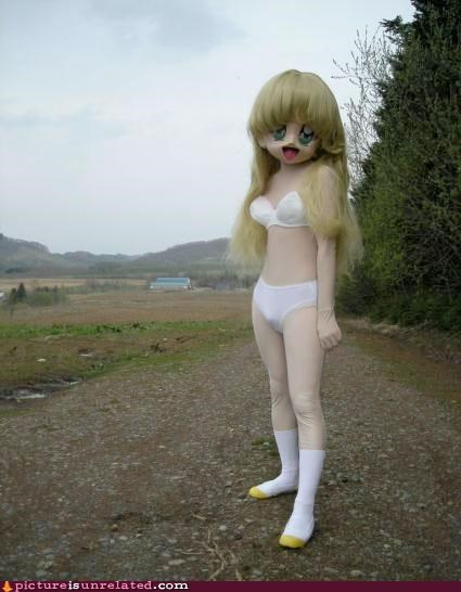costume creepy doll Japan outdoors wtf - 3638196480