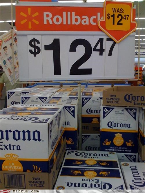 arithmetic beer busted depressing drink dumb error FAIL food idiocy idiot lazy math official sign retail retail fail Sad sale sale fail screw up signage store supermarket typo Walmart wiseass work smarter not harder wrong
