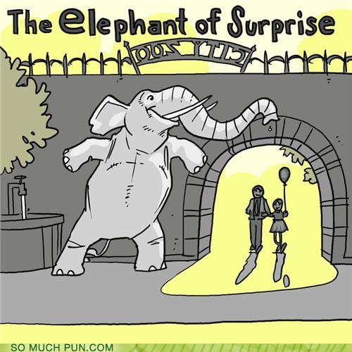 animals elephants ninja puns stealth zoo - 3638854912