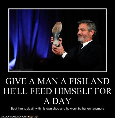 actor,Death,food,george clooney,shoes
