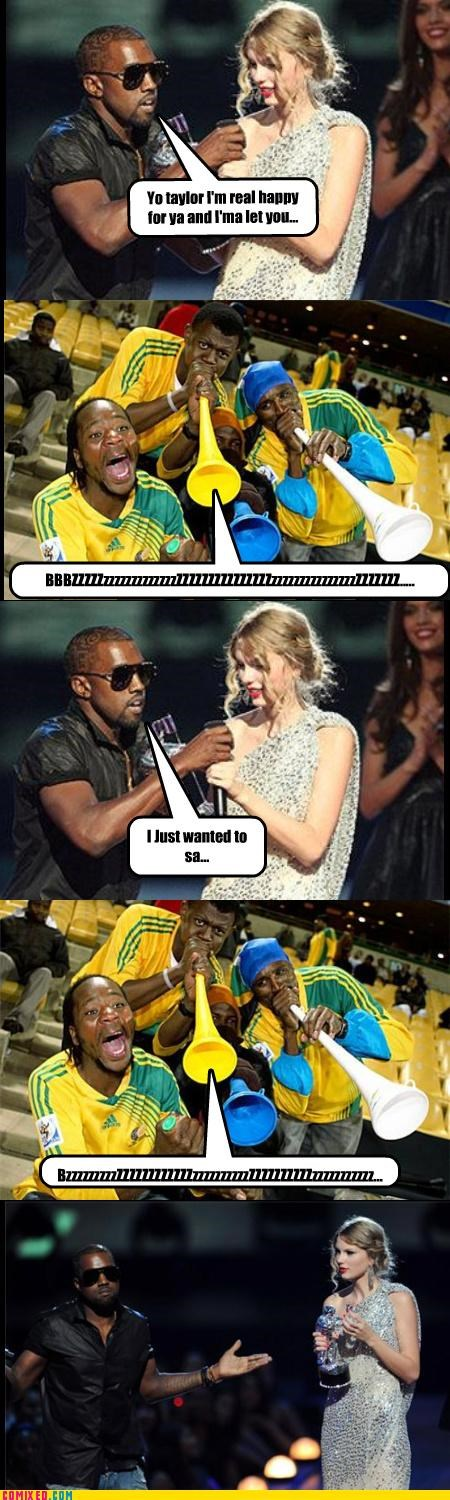 celebutard,fifa,kanye,soccer,sports,taylor swift,TV,vuvuzela,world cup