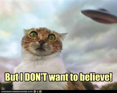 afraid Aliens believe caption captioned cat do not want do want famous quote ufo x files - 3641278720