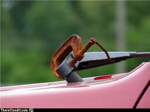 cars clamp rusty windshield wipers - 3641492736
