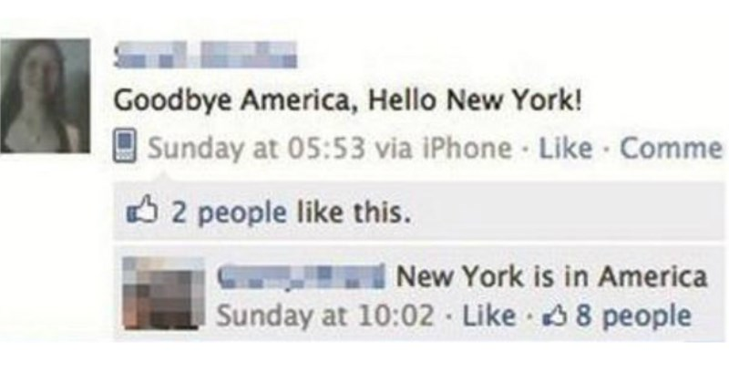 Facebook FAILs From the Morons of the Internet