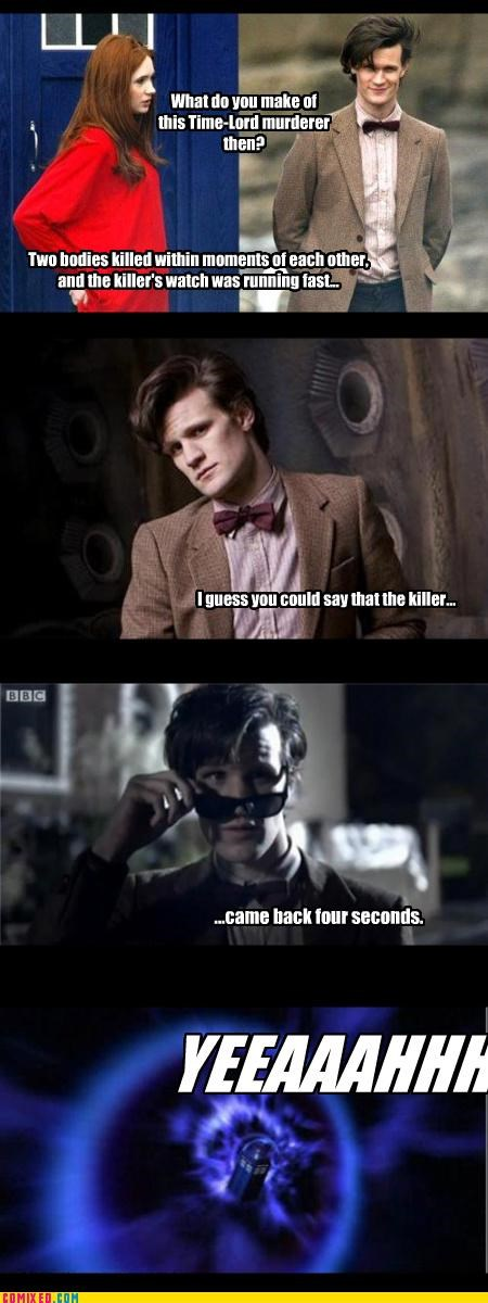 awesome,csi,doctor who,puns,riffing,time travel,TV
