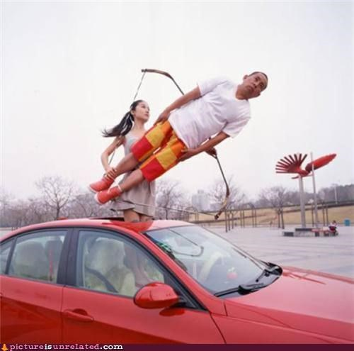 acrobatics arrows bows people real life weapons wtf - 3642749952
