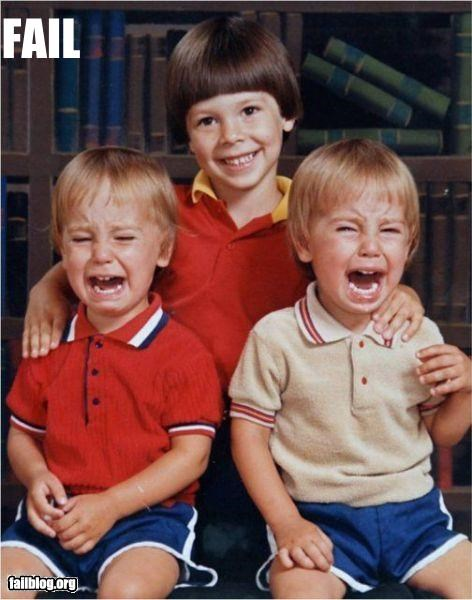 crying failboat family g rated kids Photo twins