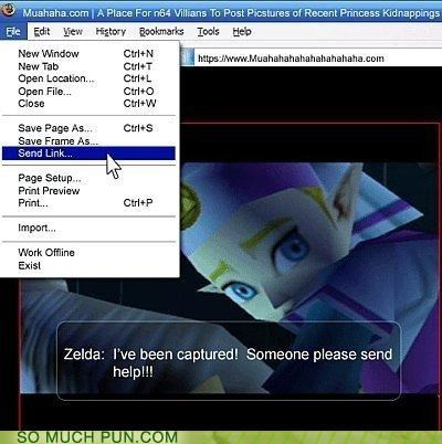 computers internet link princess puns swords Videogames zelda - 3644768000