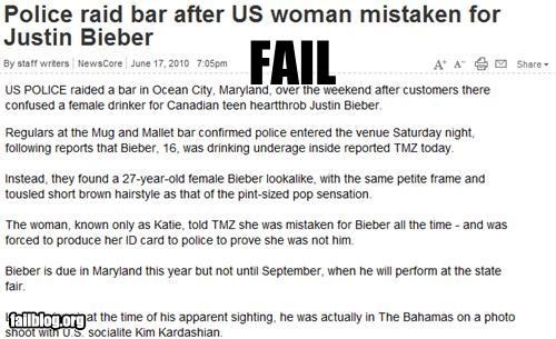 crime,failboat,girl,justin bieber,Probably bad News
