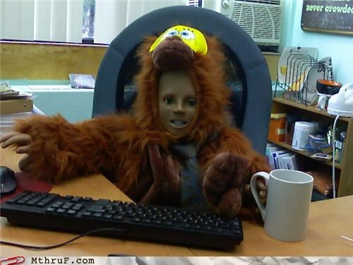 awful boredom creepy cubicle boredom decoration decoy disturbing dummy ergonomics hairy ingenuity lazy mannequin munchkin prank Terrifying weird wiseass work smarter not harder wtf