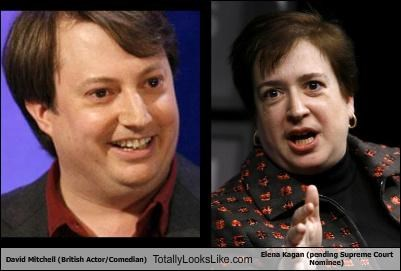 actor British comedian David Mitchell Elena Kagan politician Supreme Court
