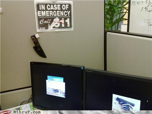 911 bummer compensation cubicle rage decoration depressing dickhead co-workers dickheads gun insecure insecurity knife lame nerd passive aggressive Sad sass screw you signage skeleton stupid wiseass work smarter not harder - 3647403520
