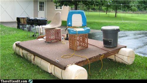boat flood milk crate plywood redneck - 3647497984