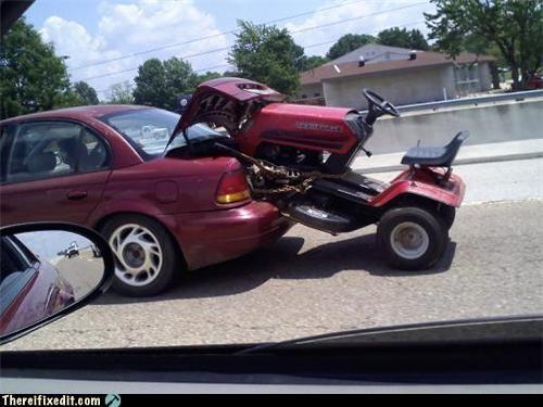 car Kludge lawnmower sedan trunk space - 3647558912