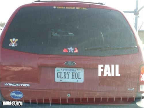failboat,glory hole,innuendo,license plate