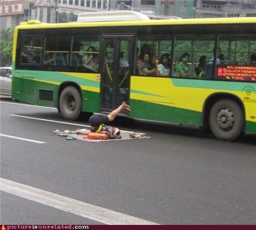 buses exercise roads stretching wtf yoga - 3647746304