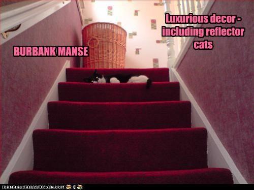 BURBANK MANSE Luxurious decor - including reflector cats