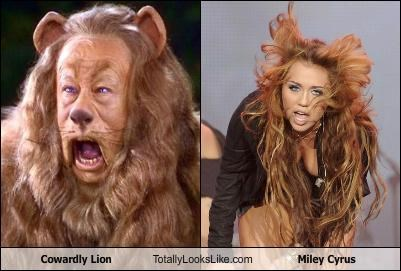 Cowardly Lion disney hair Hall of Fame miley cyrus singer wizard of oz - 3648388096