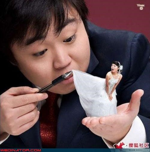 bride crazy groom crazy photoshopped wedding photo eww funny photoshopped wedding picture funny wedding photos groom naughty groom photoshop photoshopped wedding picture surprise technical difficulties upskirt weird wtf wtf is this - 3650235648