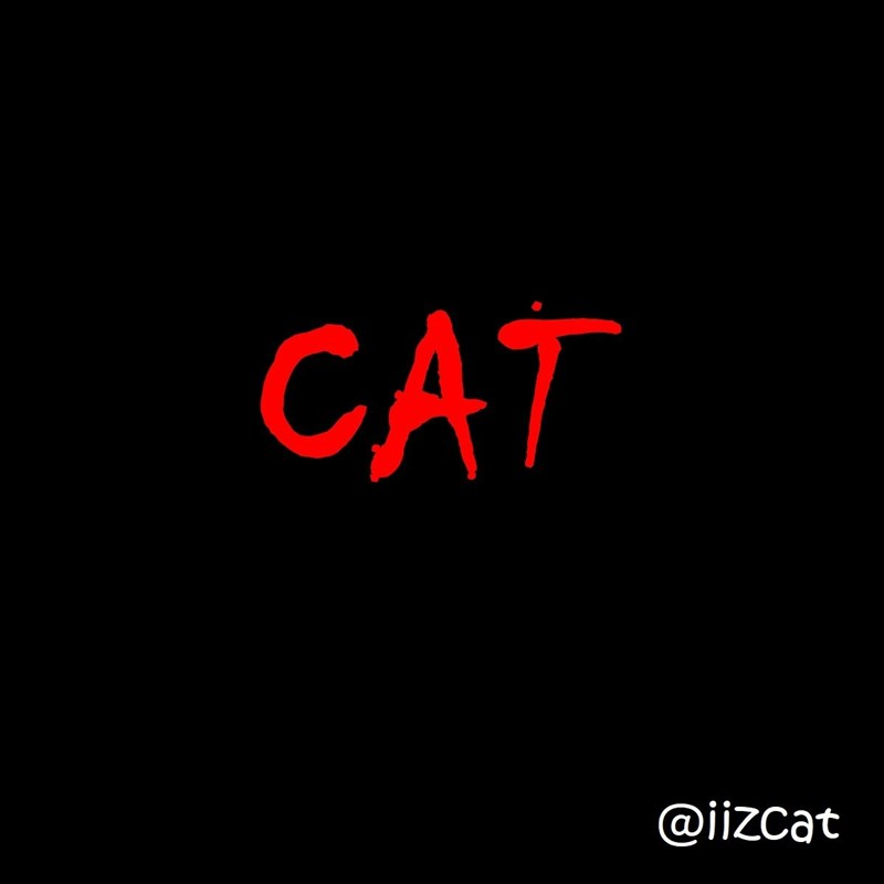 a scene from IT movie recreated with cat instead of clown