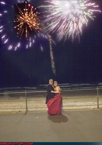 bride,funny photoshopped wedding picture,funny wedding photos,groom,photoshop,photoshopped wedding picture,surprise,technical difficulties,terrible wedding shop job,were-in-love,wedding fireworks,wtf