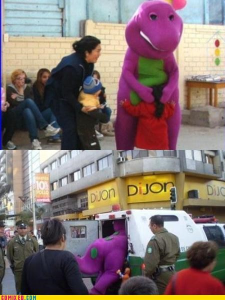 arrest barney childhood cops pedo pedobear TV