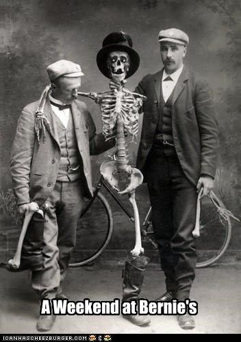funny,gentlemen,movie reference,Photo,photograph,skeleton