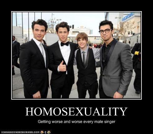 HOMOSEXUALITY Getting worse and worse every male singer