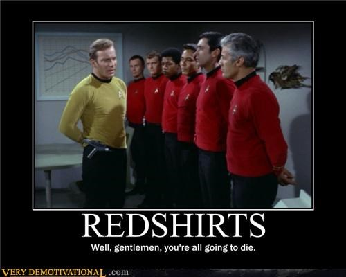 Captain Kirk,Death,redshirts,Star Trek,Terrifying,the future