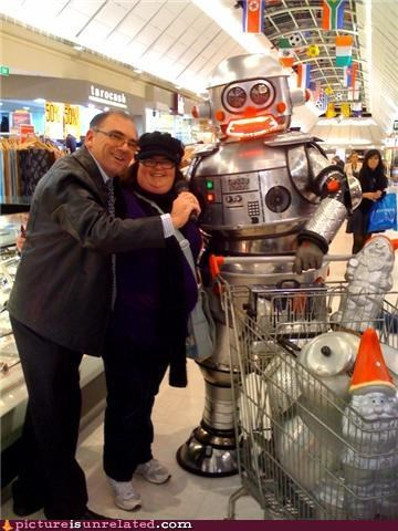 grocery store,old people,robots,rule,shopping cart,wtf