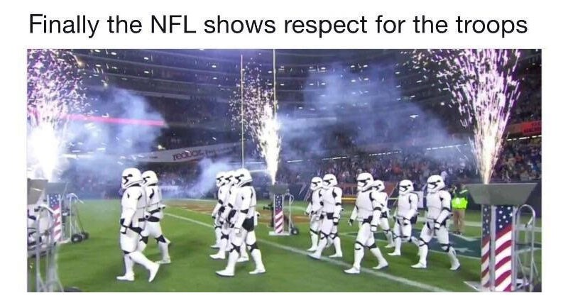 Collection of dank memes about Star Wars, NFL, Rick and Morty, David S. Pumpkins, Spongebob Squarepants, Blade Runner 2049,