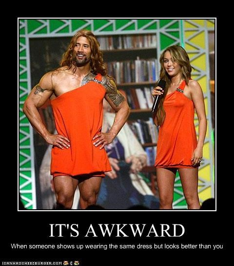 singers actor Awkward dress Dwayne Johnson fashion miley cyrus the rock wrestler - 3659143680
