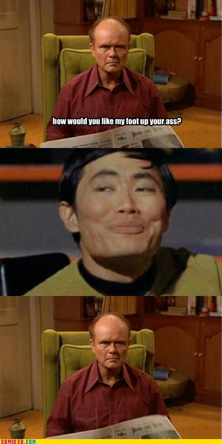 gay jokes,hygiene,Red Forman,Star Trek,sulu,That 70s Sho,that 70s show,TV