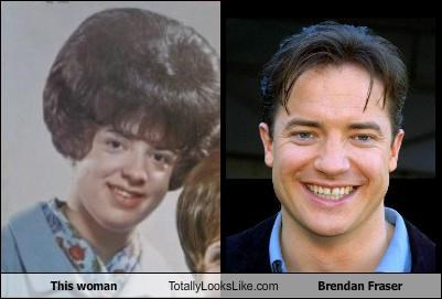actor,brendan fraser,hair style,woman