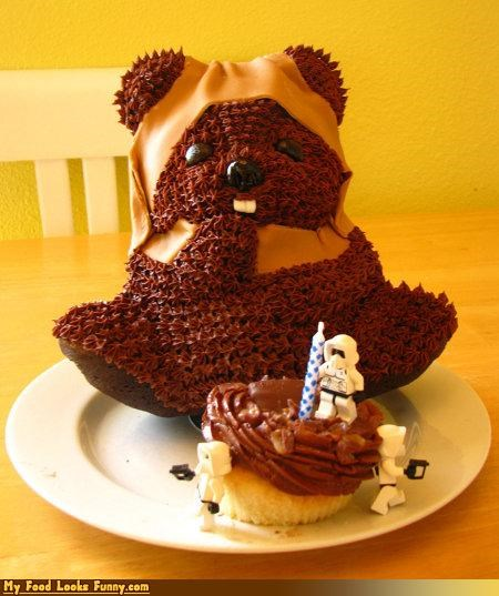 cake,cupcake,ewok,icing,return of the jedi,star wars,Sweet Treats