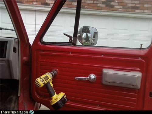 car,car window,drill,Hall of Fame,Kludge,window