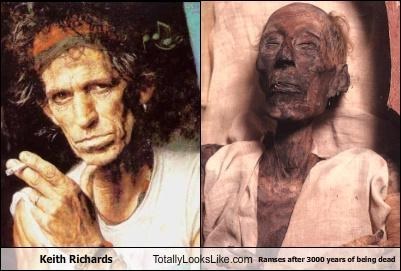 dead Hall of Fame Keith Richards mummy musician old Ramses rolling stones wrinkles
