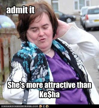 attractive,keha,sexy,singer,susan boyle,unsexy