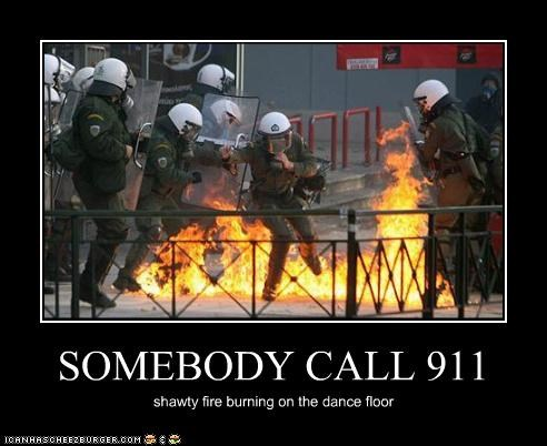 SOMEBODY CALL 911 shawty fire burning on the dance floor