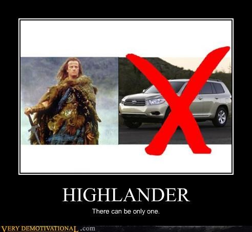 awesome,awesome movies,cars,Clan Mcloud,highlander,immortal,puns,Pure Awesome,swords,toyota