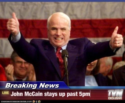 Breaking News john mccain two thumbs up - 3663027968