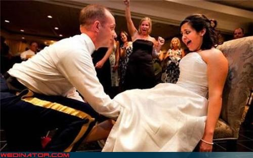 calm and collected Crazy Brides crazy groom embarrassed bride freaked out Garter lost miscellaneous-oops surprise technical difficulties under her skirt upskirt what the - 3663039232