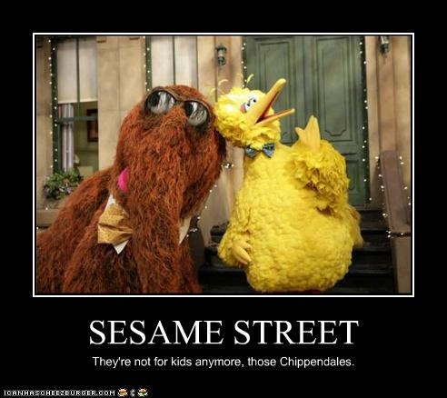 SESAME STREET They're not for kids anymore, those Chippendales.