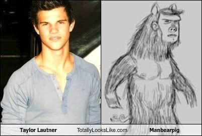actor,creature,girl,makeup,manbearpig,movies,taylor lautner,twilight