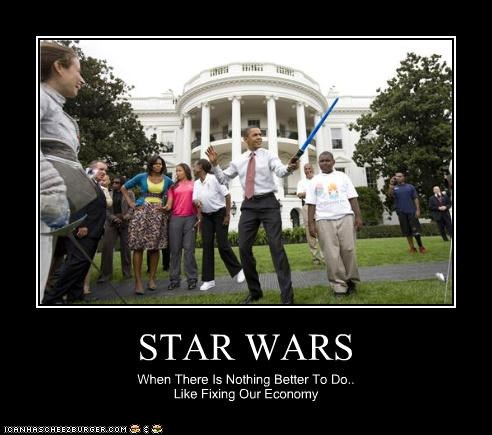 STAR WARS When There Is Nothing Better To Do.. Like Fixing Our Economy