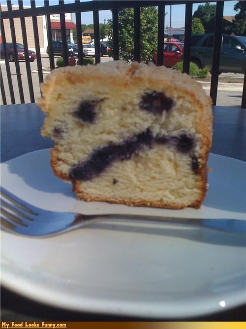 blue blueberry face muffin Sad sad face Sweet Treats - 3665402112