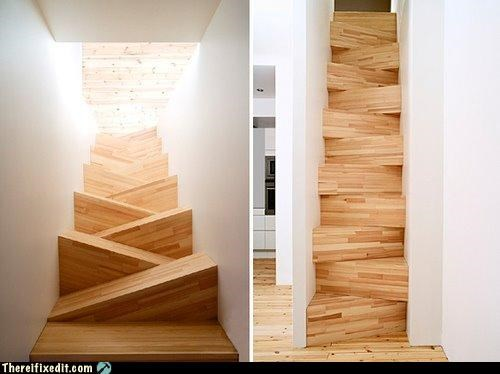 Hall of Fame illusion odd perception stairs wooden - 3665803520