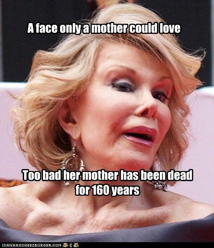 comedian dead fake joan rivers mother old plastic surgery - 3666351616