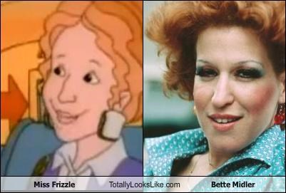 actress,Bette Midler,cartoons,Miss Frizzle,redhead,singer,The Magic School Bus