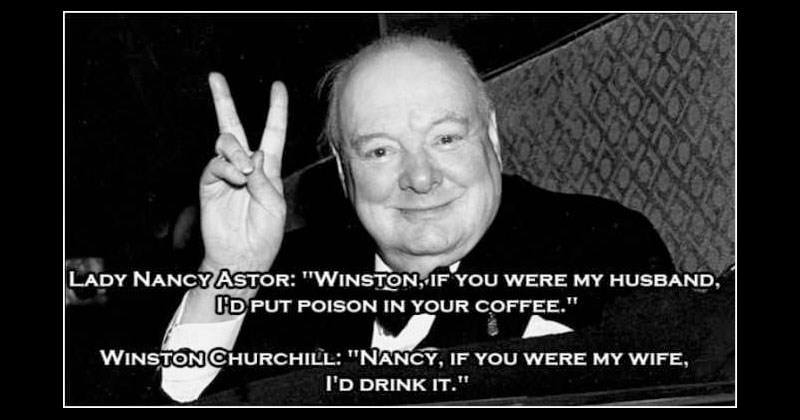Collection of funny and witty comebacks from historical figures like Groucho Marx, Winston Churchill and Dorothy Parker.